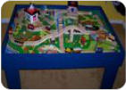 DIY toy Train Tables
